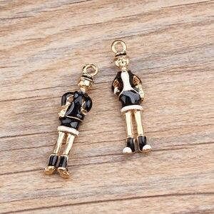 MRHUANG Подвески с масляными каплями 5 шт./лот, платье для джентльменов, металлическая эмалированная подвеска, карусельные Подвески, DIY браслет