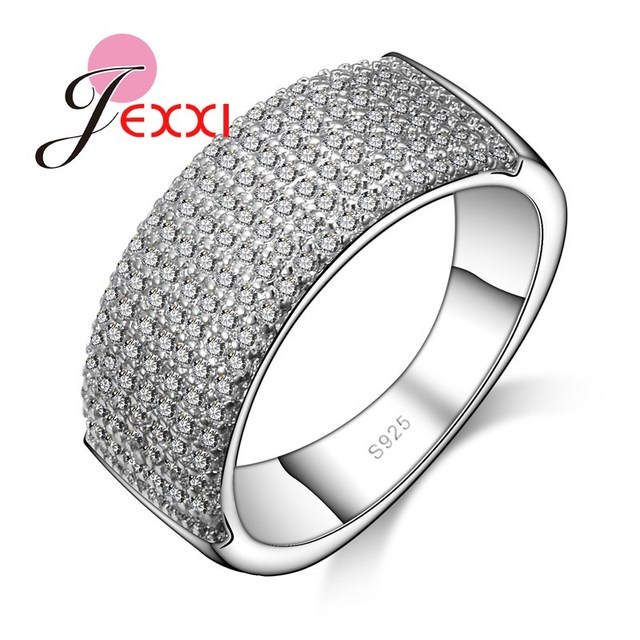 Aliexpress buy patico simple round engagement ring classic patico simple round engagement ring classic women men fashion white crystal 925 sterling silver wedding rings junglespirit Gallery