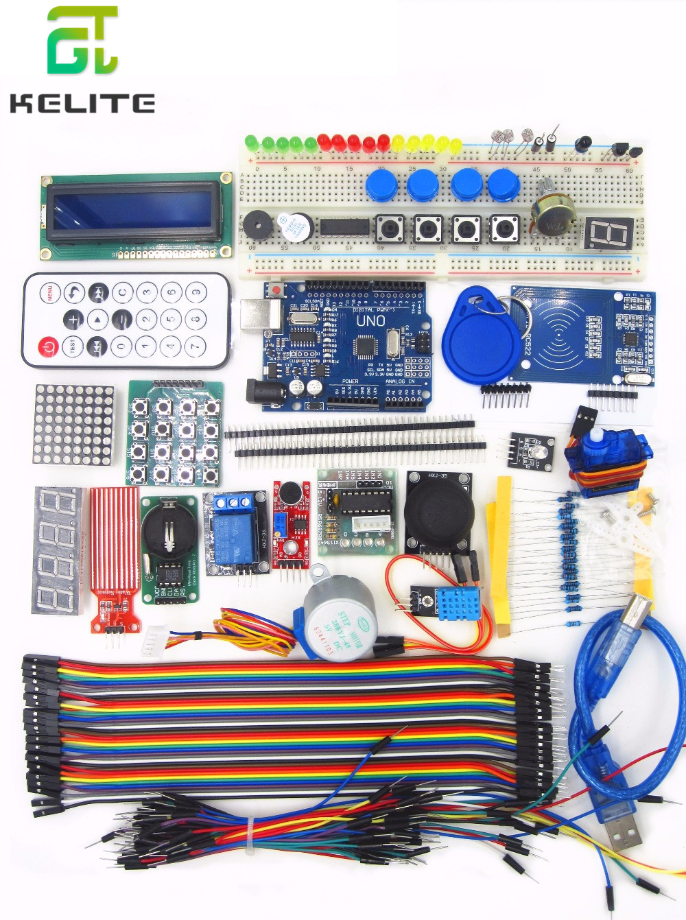 UNO R3 KIT Upgraded version of the For- Starter Kit the RFID learn Suite Stepper Motor + ULN2003 Best prices