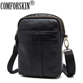 COMFORSKIN Brand Guaranteed 100% Luxurious Cowhide Leather Men Bag Famous Design European American Messenger
