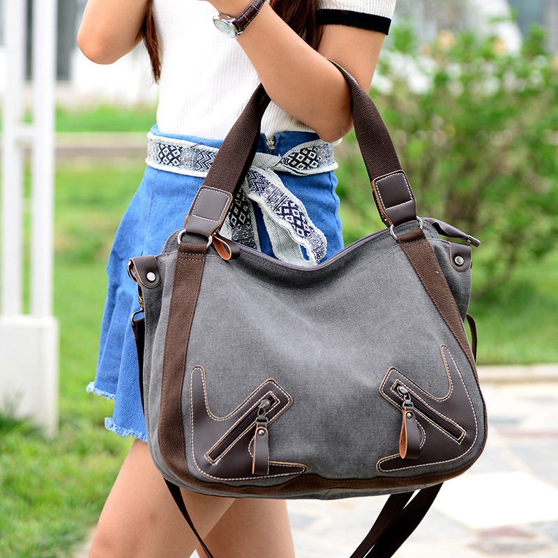 Canvas Dames Hoge Bag Vrouw Crossbody Tassen Mode Originele ExOITT