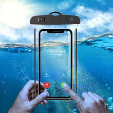 KISSCASE Luminous Waterproof Case For iPhone 7 8 X Cover Universal Transparent Pouch Samsung S9 S8 Plus Swim Bag