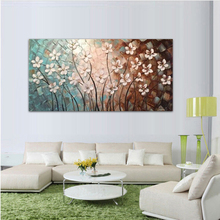 Hand painted oil painting High quality knife painting flower pictures
