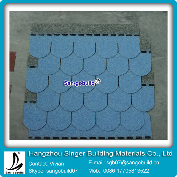 Iso 9001 Roved Colored Fish Scale Sample Roofing Shingles Prices Asphalt Material