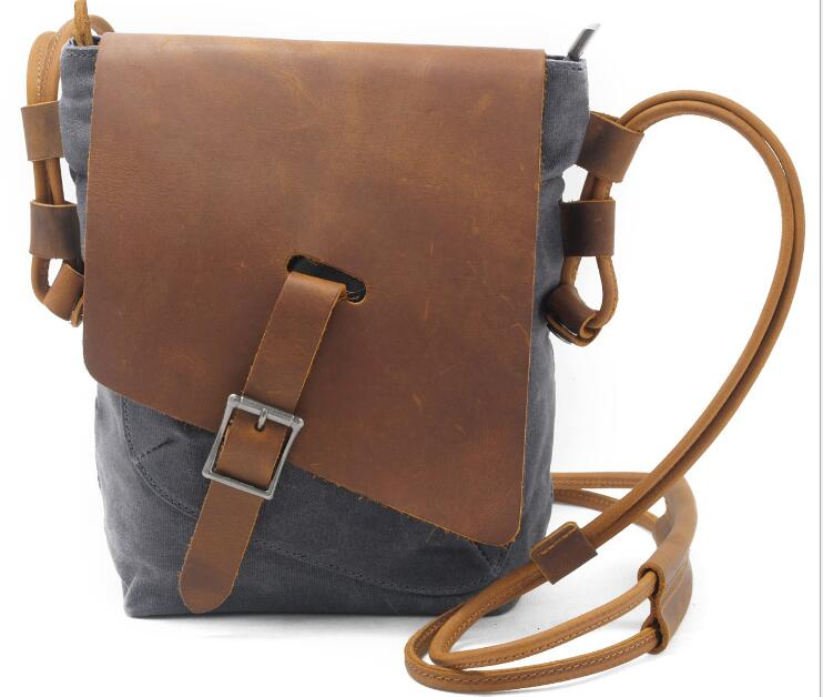 2019 men samll Waterproof Canvas cross body bags male canvas Shoulder Bag Student Messenger Bags Crossbody