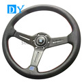 New 14inch 350mm Deep Dish Carbon Fiber Steering Wheel Universal Racing Car Leather  Steering Wheel