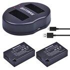 Batmax 2pc LP-E17 LP E17 E17 Camera Battery+USB Dual Charger for Canon EOS Rebel T6i 750D 800D 200D 8000D Kiss X8iCamera Battery