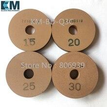 BD 100x22 мм(отверстие)-15/20/25/30 мм(высота) мм шлифовальные круги для стекла окончательный полировочное колесо, форма для прямолинейной скругленной кромки