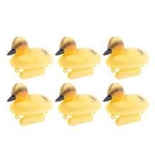 6 шт. в натуральную величину пластиковые плавающие утки Кряква охотничьи приманки для стрельбы Пруд реки садовый декор маленькая утка приманки