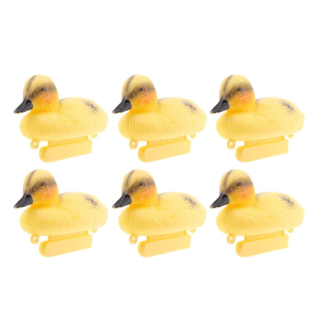6 Pieces Life Size Plastic Floating Ducks Mallard Hunting Shooting Decoy Pond Rivers Garden Decor Small Duck Decoys