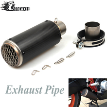 51MM Universal Motorcycle Exhaust Pipe Scooter Modified Carborn Firber Muffler exhaust pipe For Suzuki Honda  Fit Most Motorbike цена