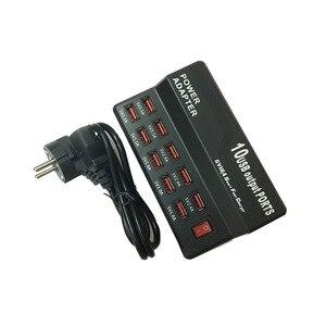 Image 4 - Зарядное устройство с несколькими портами 10 USB, 12 А, мощность 60 Вт, быстрая зарядная станция для iPhone 7, 5, 5S 6, 6S Plus, iPad, LG, Samsung, Huawei, Nexus, адаптер переменного тока