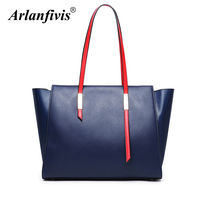 Arlanfivis luxury New 2018 Genuine Leather Women Handbags shopper bag Tote Bags woman bag Large Capacity Shoulder Bag For women