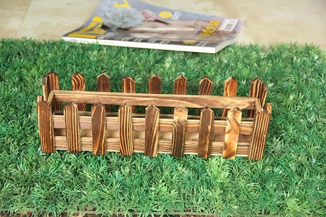 Wood Artificial Flower Vase Wooden Flower Pots Pot Wood Fence Planter Tray Garden  Fence Flower Suit