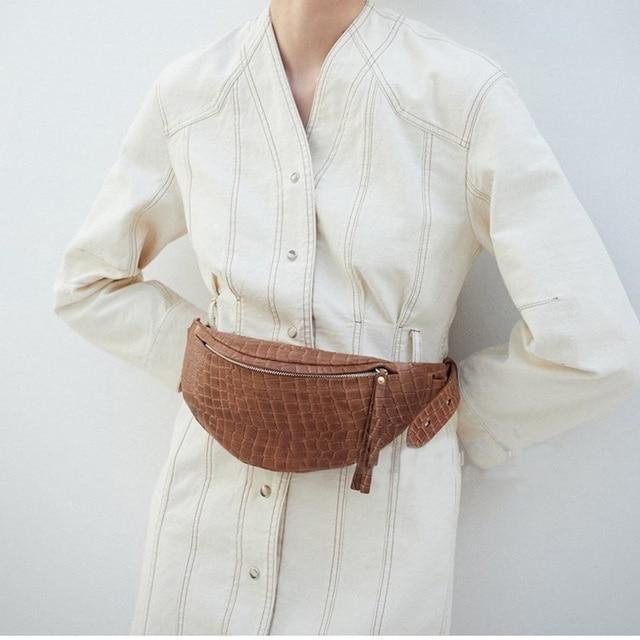 Поясная Сумка Для женщин плечевой ремень сумка кожа аллигатора Для женщин сумка на молнии пояс пакет моды путешествия плечо мешок телефона B166