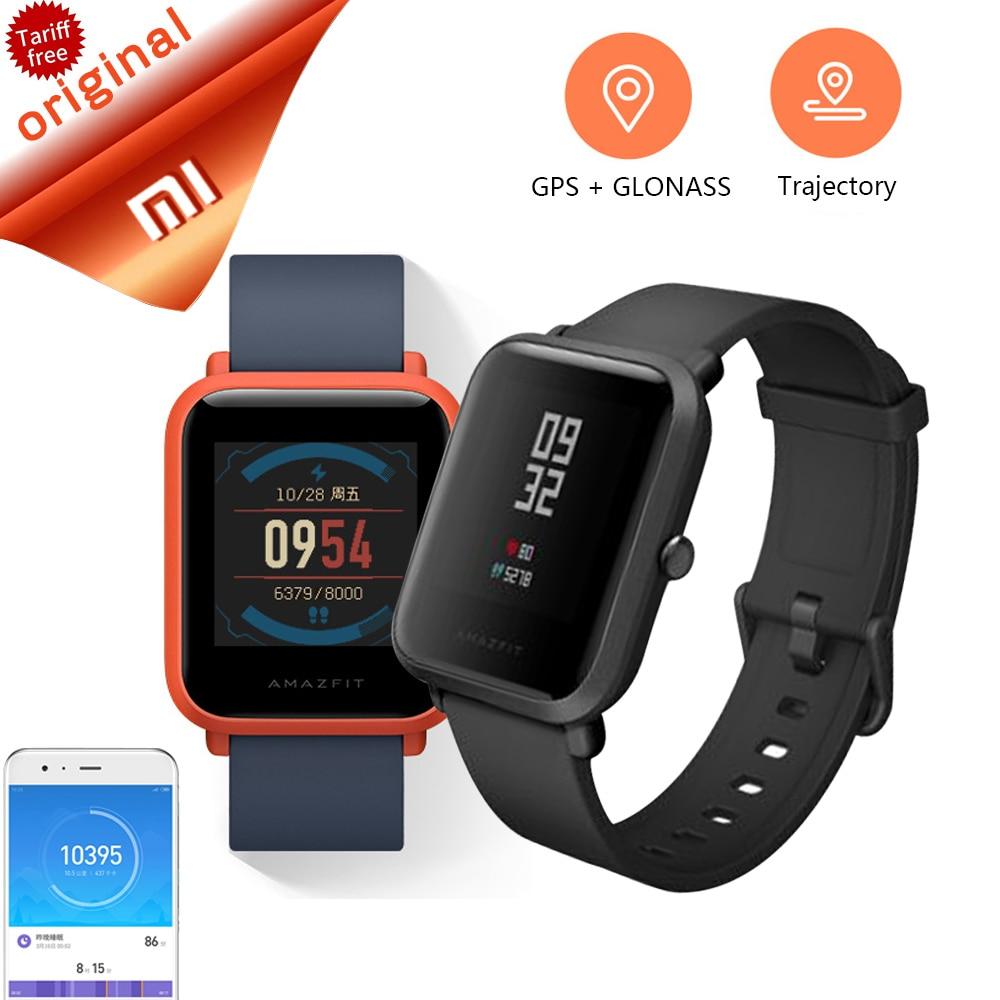все цены на Original Xiaomi Huami Amazfit Smart Watch Bip Bit Face Youth GPS Fitness Tacker Heart Rate Baro IP68 Waterproof Free Protector онлайн