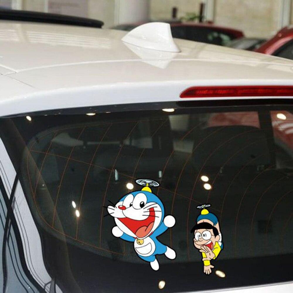 Aliauto Car-styling Doraemon And Nobita Funny Car Sticker Cartoon Decal For Volkswagen Polo Golf 5 6 7 Peugeot mazda 3 Kia Opel