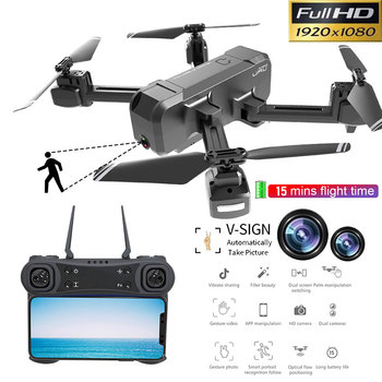 New Multifunction Drones WIFI FPV with 1080P Wide-Angle Dual Camera Optical flow positioning Follow Mode Dron Quadcopter