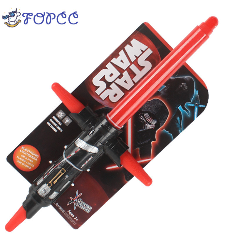 1PCS Star Wars Laser Sword Lightsaber Cosplay Mask Children's Flashing Toys Boy Girl Gift Luminescent Music Telescopic 2pcs cosplay star wars lightsaber sound telescopic led flashing light sword toys weapons sabers pvc action figure toy gifts boys