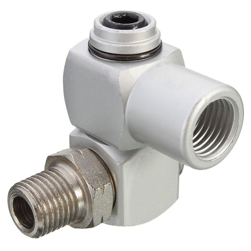 1 4 BSP Universal 360 Swivel Air Hose Connector Adapter Flow Aluminum Tool