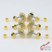 1 Set Original Genuine L3+R3 GOTOH SXB510V 06M Open Gear Guitar Machine Heads Tuners ( Gold ) MADE IN JAPAN
