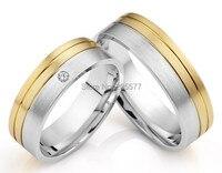 Ручной работы его и ее кольца titanium обручальные кольца наборы для женщин и мужчин