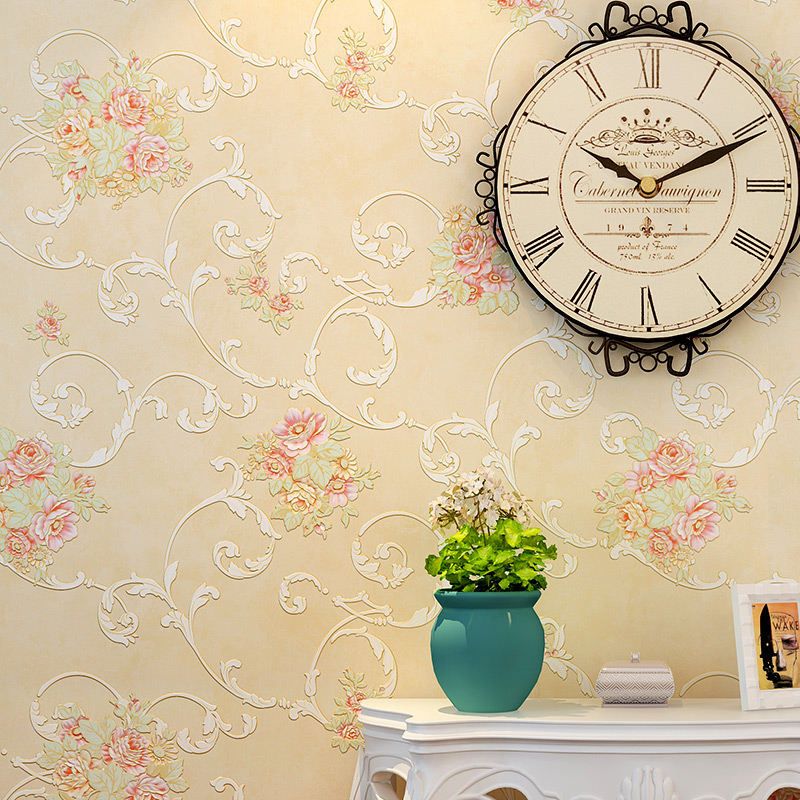 PAYSOTA Romantic Pastoral Wallpaper Small Floral Nonwoven Living Room Bedroom Wall Paper Roll paysota children room wallpaper bedroom romantic pink princess room environmental non woven stripe wall paper roll
