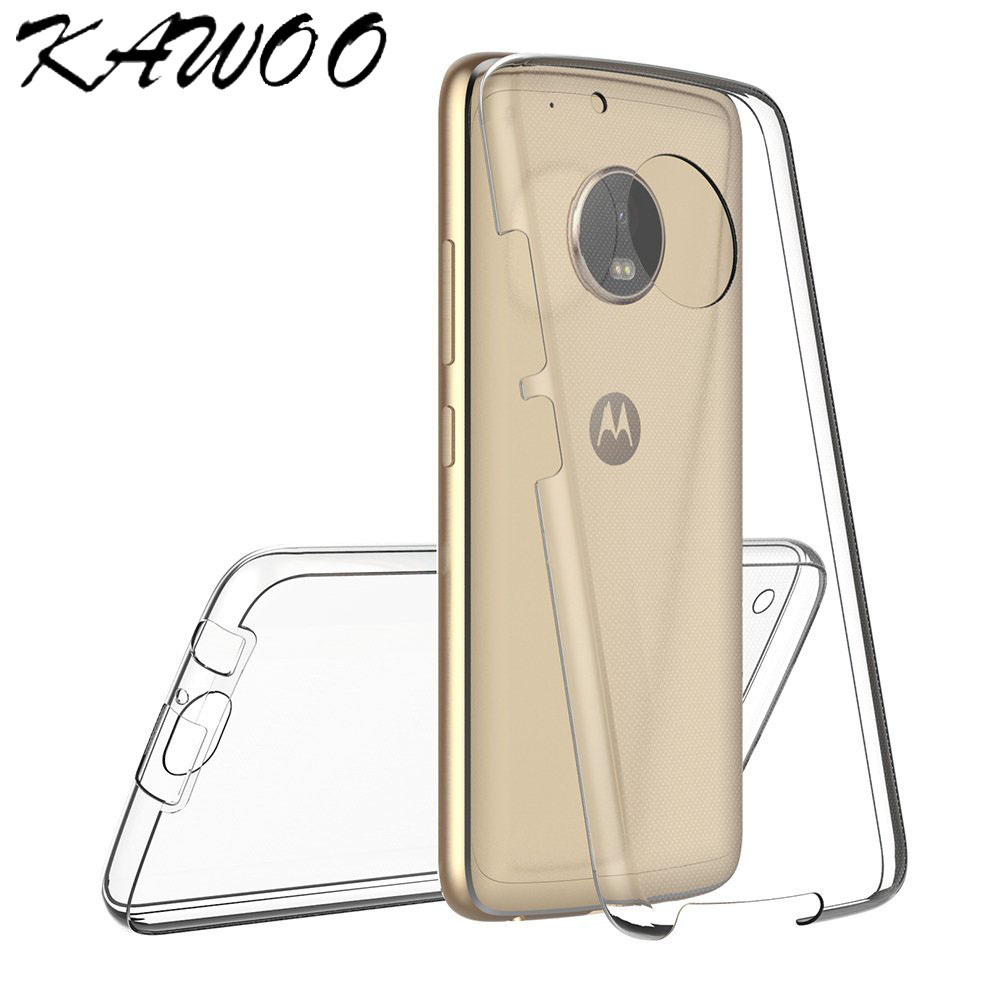 For Moto G5 Plus 360 Degree Full Body Clear TPU Soft Rubber Silicone Case  Capa Front And Back Cover For Moto G4 G5 G3 X Play