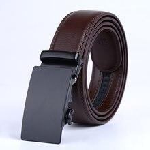 Calidad superior de los hombres Cinturón marrón Cuero auténtico negocio Correa  cinturones para hombres moda vintage hebilla auto. 314acff9e0c8