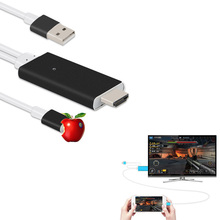 1080p hdtv adapter For iphone 6s 6 SE hdmi CABLE Iphone5 mobile phone to TV video audio output cellphone converter BOX