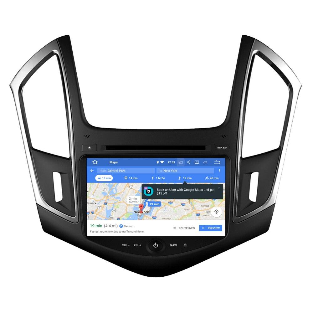 Lecteur multimédia RoverOne S200 Android 8.0 pour voiture Chevrolet Cruze Autoradio DVD Radio stéréo GPS Navigation Sat Navi Bluetooth