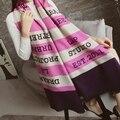 2016 мода полосатый письмо одеяло шарф женщин пончо теплый кашемировый шарф люксовый бренд зима супер большие шали и шарфы