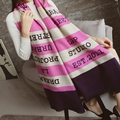 2016 fashion striped letter blanket scarf women poncho warm cashmere scarf luxury brand winter super large shawl and scarves