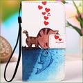 Colorido dos desenhos animados pu leather case capa para lenovo a1000 case flip fundas tampa do telefone para lenovo a 1000 com suporte titular do cartão