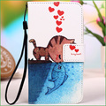 Colourful Cartoon PU Leather Case Cover For Lenovo A1000 Case Flip Phone Cover Fundas For Lenovo A 1000 With Card Holder Stand