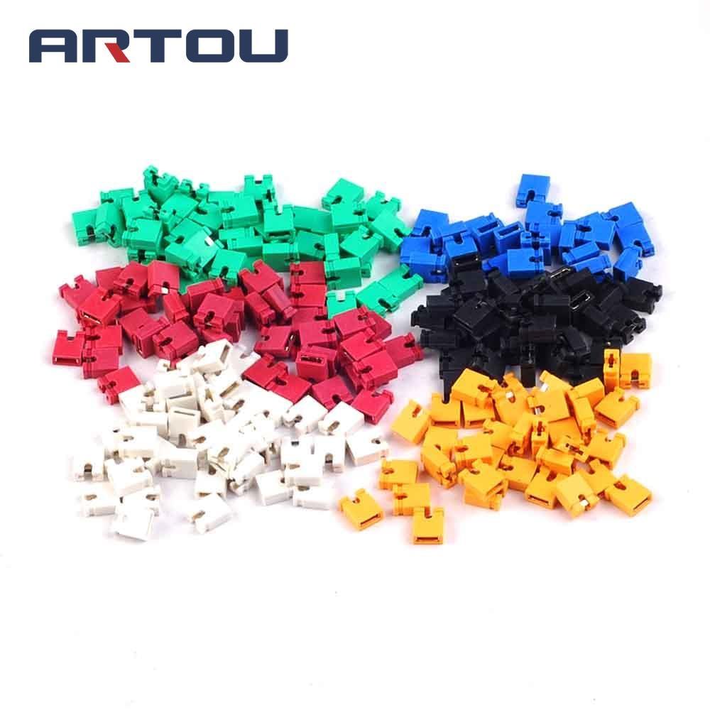 120pcs 2.54mm Standard Circuit Board Jumper Cap Shunts Short Circuit Cap 6 Color Each 20pcs