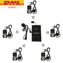 DHL Delivery 1 Transmitter+5 Receivers Wireless Tour Guide System for Tour Guiding Simultaneou Interpretation Meeting Church atg100 remote speaker microphone wireless tour guide system pll transmitter 15receiver for teaching meeting tourism visit