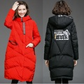 2016 Winter women hooded Wadded coat female plus size warm thickening casual cocoon long padded jacket outwear parkas XXXXXL8288