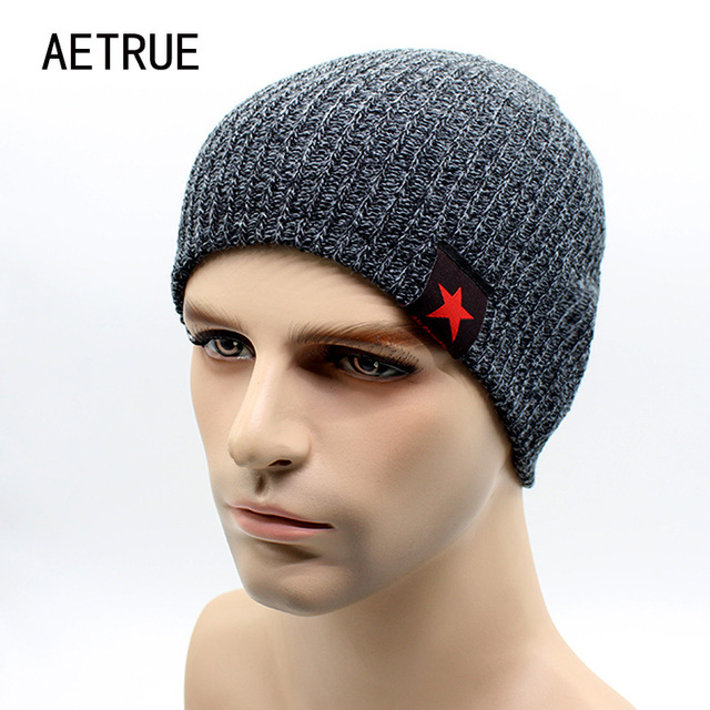 2439c0d1117f0 2018 invierno cálido gorros para hombres sombrero de punto sombreros de invierno  para hombres Bonnet Beanie
