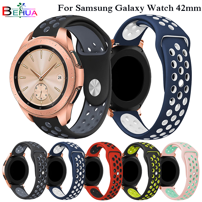 New Soft Silicone Watch Band Replacement Strap For Samsung Galaxy Watch 42mm SM-R810 Wrist Strap Smartwatch bracelet Wristband