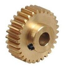 ФОТО 42L-C6810 Free shipping 0.8M 115teeth 6mm hole convex copper  motors gear
