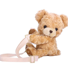 Teddy Bear Designer Bag Plush B Soft Shoulder Bag Cute Cartoon Doll Birthday Gift for Girls Messenger Bag Handbag Kawaii
