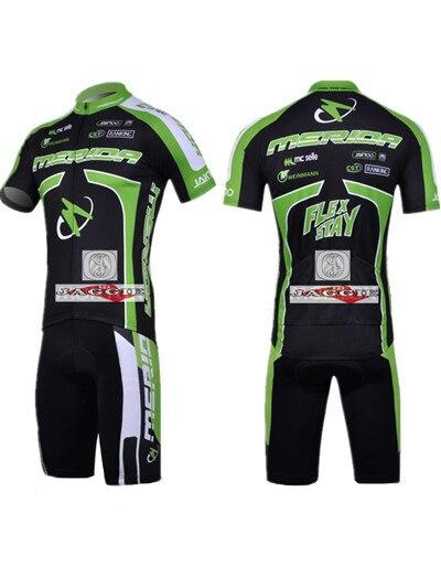 Free shipping! MERIDA 2011 team cycling jersey shot short sleeve jerseys Z123 bike bicycle riding wear set