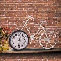 Xe đạp Sáng Tạo Thức Dậy Ánh Sáng Kỹ Thuật Số Clock Retro Đồng Hồ Báo Thức Desktop TỰ LÀM Kim Loại Kỹ Thuật Số Trang Trí Nội Thất Đồng Hồ Điện T