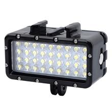 цена на GoPro Diving light waterproof LED video light + battery & buckle mount For GoPro Hero 4/3+/3 /SJ4000/Xiaomi Yi Accessories