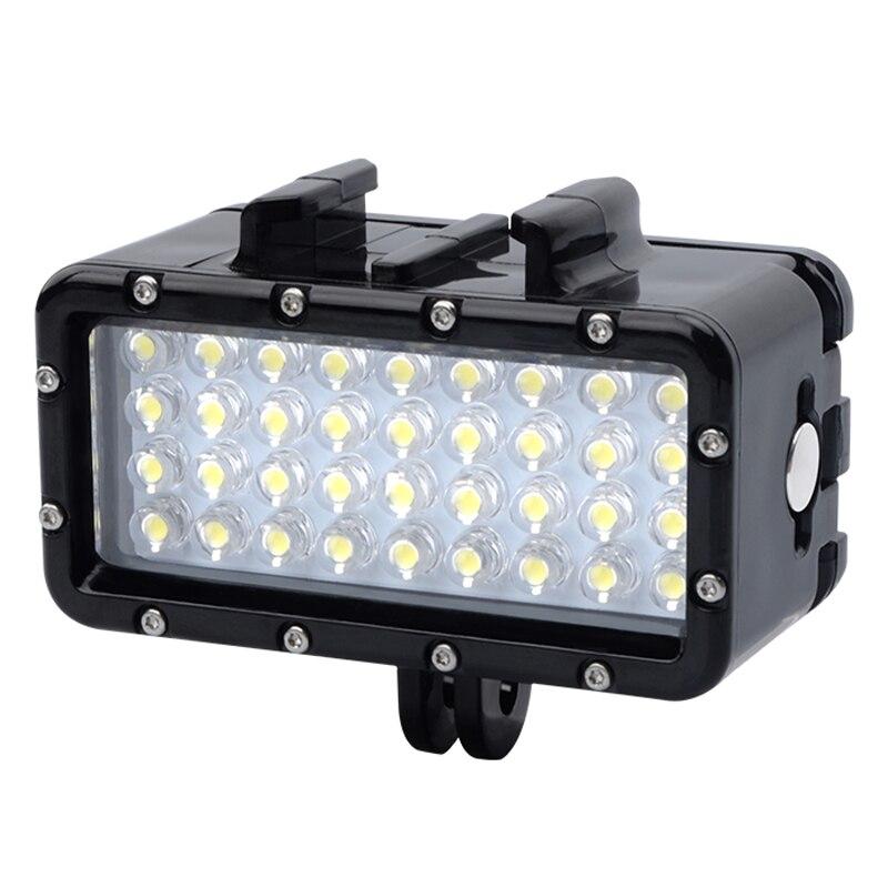 Nouveau Insta360 GoPro Sous-Marine de Plongée étanche LED lumière Pour GoPro Hero 7 5 6 4 Session 3 + 3 xiaoyi 4 k Noir Accessoires