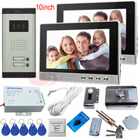 Video Door Phone System With Rfid Electronic Lock Door Phone Video For 2 Apartments Home Intercom