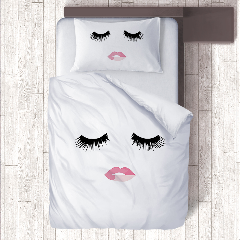 Aliexpress.com : Buy Eyes Lashes Pillow Cases Kiss Me Lips