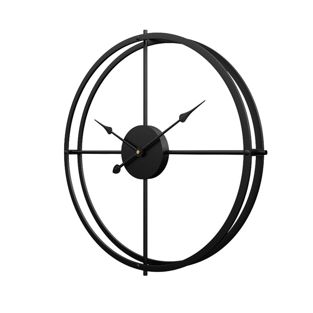 40cm /50cm  / 60cm Silent Iron Wall Clock Modern Design Clocks Home Decor Office European Style Hanging Wall Watch Clocks