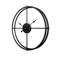 Homingdeco 40cm Silent iron Wall Clock Modern Design Clocks Home Decor Office European Style Hanging Wall Watch Clocks 2018